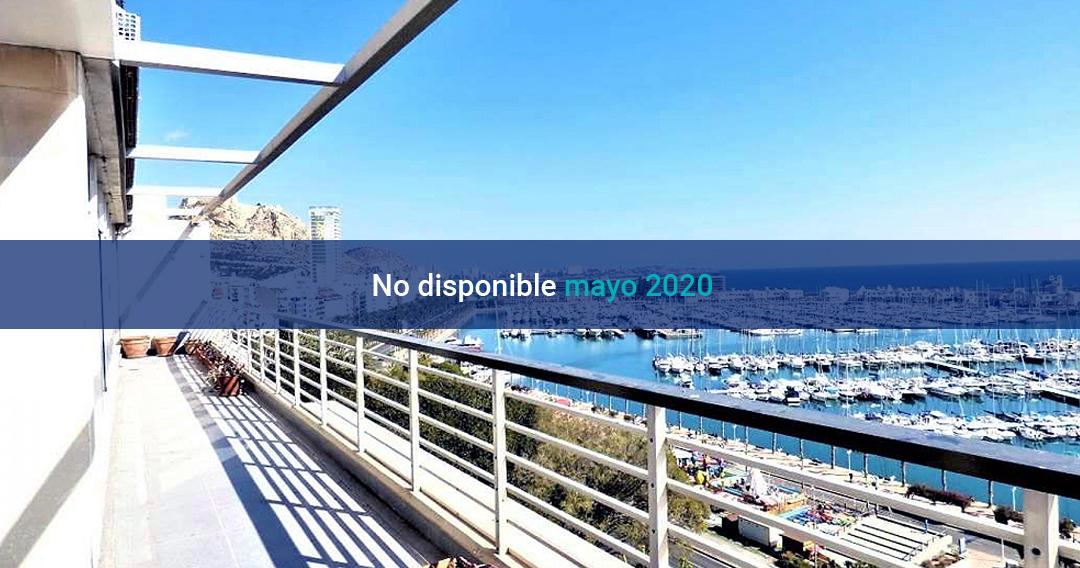 Terraza en Alicante con vistas al puerto